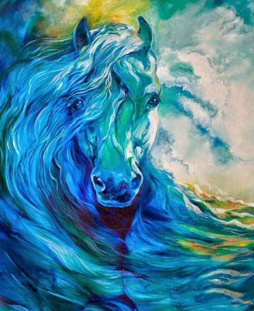 Blue Ghost Ocean Equine - diamond-painting-bliss.myshopify.com