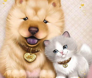 Cartoon Dog & Cat - diamond-painting-bliss.myshopify.com