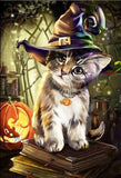 Cat Celebrating Halloween - diamond-painting-bliss.myshopify.com