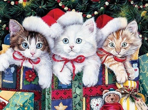Cats on Christmas - diamond-painting-bliss.myshopify.com