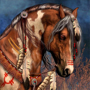 Cherokee Native American Horse - diamond-painting-bliss.myshopify.com