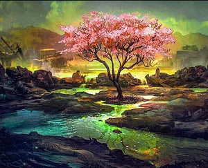 Cherry Blossom Painting Kit - diamond-painting-bliss.myshopify.com