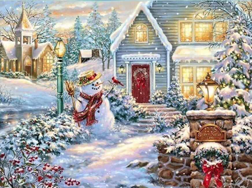 Chrismas and Snow - diamond-painting-bliss.myshopify.com
