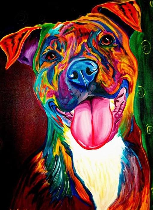 Colorful Dog - diamond-painting-bliss.myshopify.com