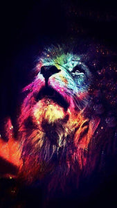 Colorful Lion Art Diamond Painting - diamond-painting-bliss.myshopify.com