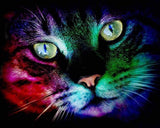 Colorful cat Diamond painting - diamond-painting-bliss.myshopify.com
