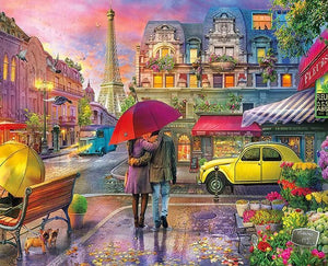 Couple on Paris Streets - diamond-painting-bliss.myshopify.com
