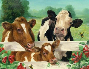 Cow Family - Paint with Diamonds - diamond-painting-bliss.myshopify.com