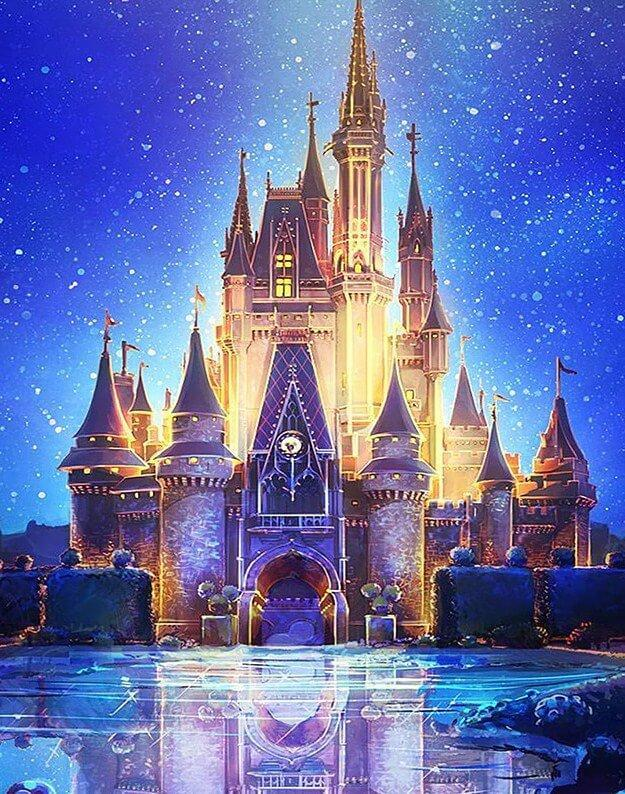 Disney Castle - diamond-painting-bliss.myshopify.com
