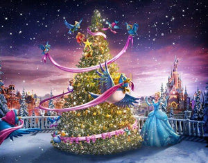 Disney Princess & Christmas Tree - diamond-painting-bliss.myshopify.com