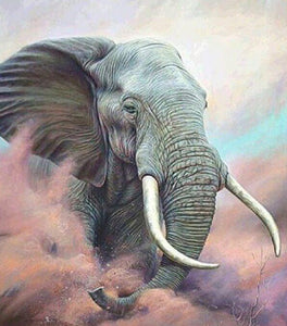 Elephant with Big Teeth - diamond-painting-bliss.myshopify.com