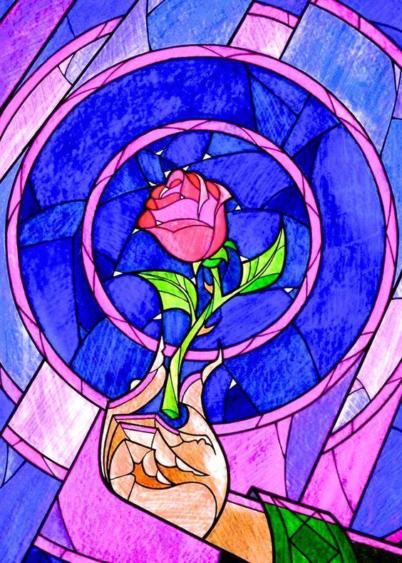 Stained Glass Rose Art DIY Diamond Painting Kit - diamond-painting-bliss.myshopify.com