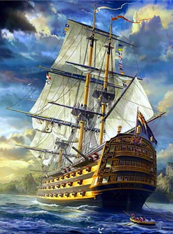 Fantasy Sailing Ship - diamond-painting-bliss.myshopify.com