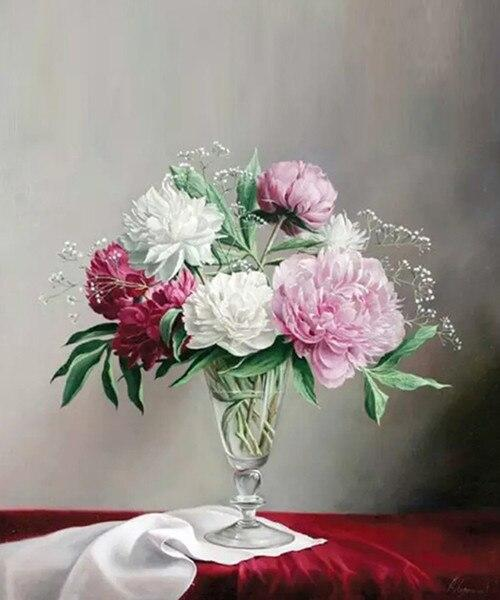 Flowers in Glass - Diamond Painting - diamond-painting-bliss.myshopify.com