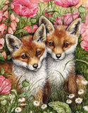 Foxes & Flowers - diamond-painting-bliss.myshopify.com