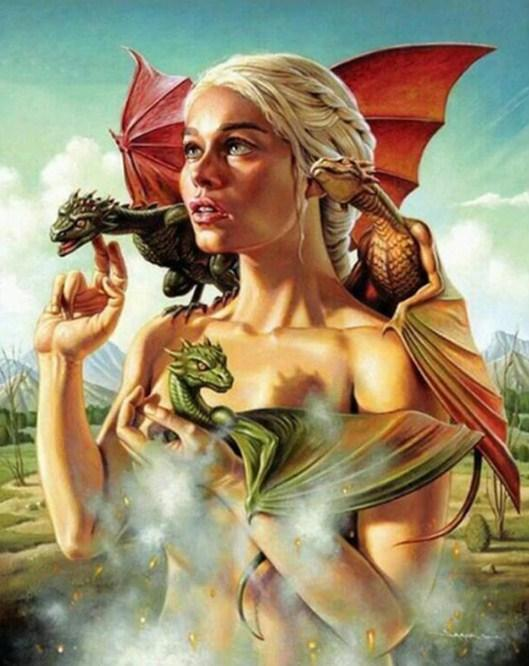 Game of Thrones Khaleesi Dragons - diamond-painting-bliss.myshopify.com