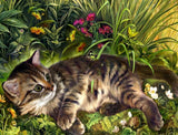 Garden Cat - Paint by Diamonds - diamond-painting-bliss.myshopify.com