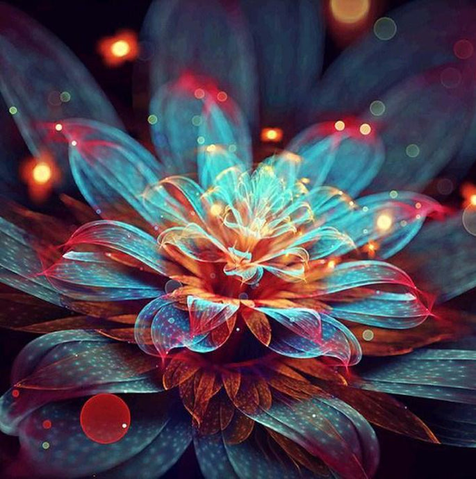 Glowing Flower - Paint by Diamonds - diamond-painting-bliss.myshopify.com