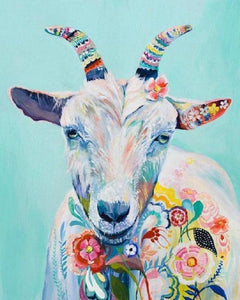 Goat Floral Art - diamond-painting-bliss.myshopify.com