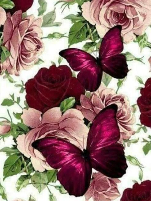 Gorgeous Butterflies & Roses - diamond-painting-bliss.myshopify.com