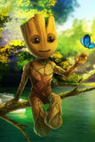 Groot Animated Character - DIY Diamond Painting - diamond-painting-bliss.myshopify.com