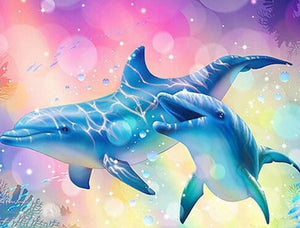 Happy Dolphins Pair - diamond-painting-bliss.myshopify.com