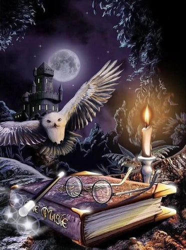 Harry Potter's Owl - Paint by Diamonds - diamond-painting-bliss.myshopify.com