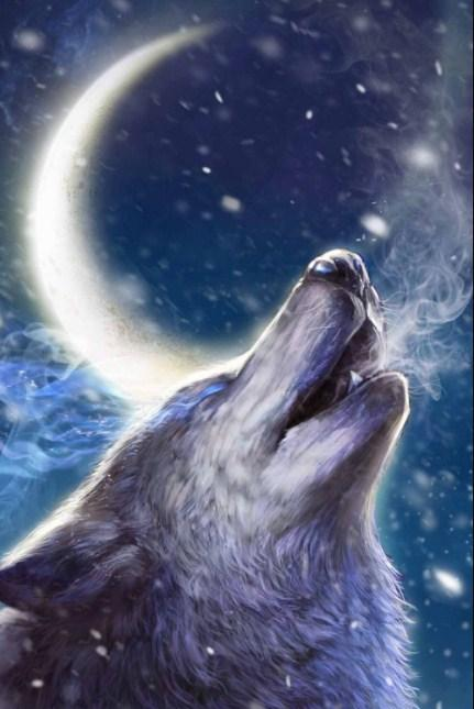Howling wolf - diamond-painting-bliss.myshopify.com