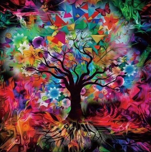 Kaleidoscope Tree Tempered Glass - diamond-painting-bliss.myshopify.com