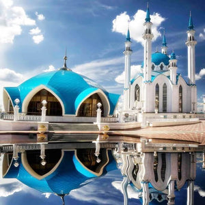 Kazan Kremlin, Qolsharif Mosque DIY Painting - diamond-painting-bliss.myshopify.com