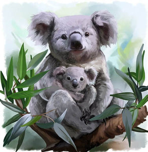 Koala Bear with Baby - diamond-painting-bliss.myshopify.com