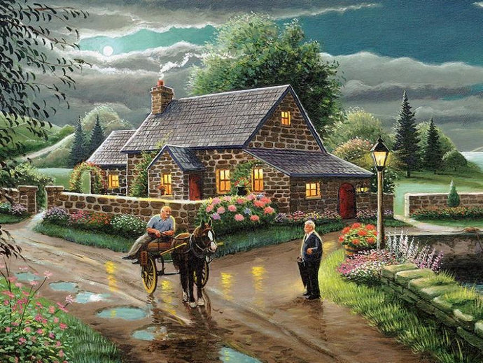 Lakeside Cottage by Patrick Costello - diamond-painting-bliss.myshopify.com