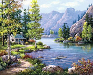 Landscape Scenery - Diamond Painting - diamond-painting-bliss.myshopify.com