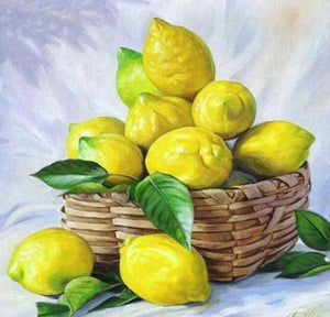 Lemons Basket - diamond-painting-bliss.myshopify.com