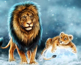 Lion 5D Diamond Painting Kit - diamond-painting-bliss.myshopify.com