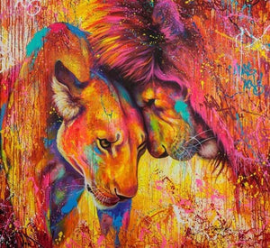 Lion and Lioness - diamond-painting-bliss.myshopify.com