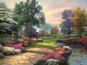 Living Waters by Thomas Kinkade - diamond-painting-bliss.myshopify.com