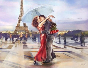 Loving Couple near Eiffel Tower - diamond-painting-bliss.myshopify.com