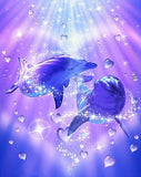 Loving Dolphins - Paint with Diamonds - diamond-painting-bliss.myshopify.com