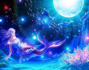Magical Mermaid & Fish Diamond Painting - diamond-painting-bliss.myshopify.com