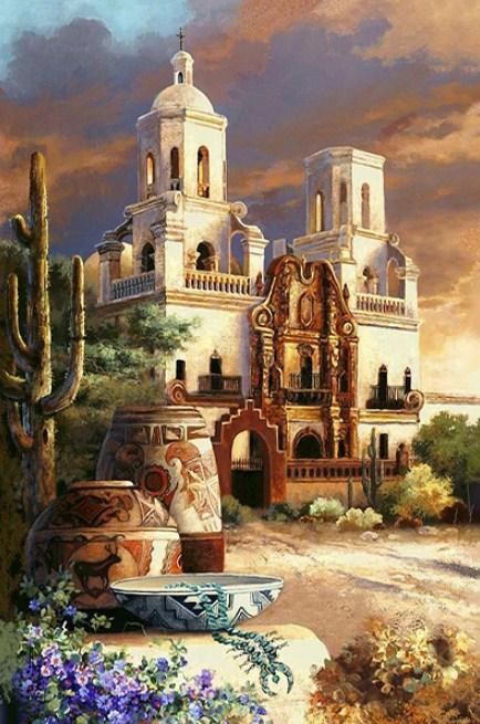 Mexican Church - Paint with Diamonds - diamond-painting-bliss.myshopify.com