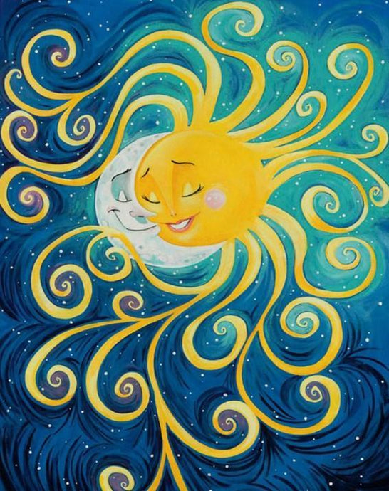 Moon & Sun in Love Diamond Painting - diamond-painting-bliss.myshopify.com