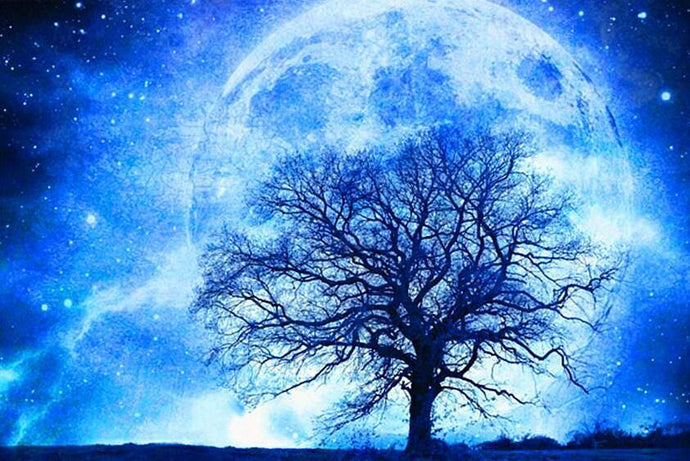 Moonlight Tree - Diamond Painting Kit - diamond-painting-bliss.myshopify.com