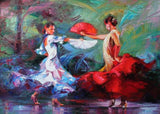 Mother and daughter dance by Eva Szakacs - diamond-painting-bliss.myshopify.com