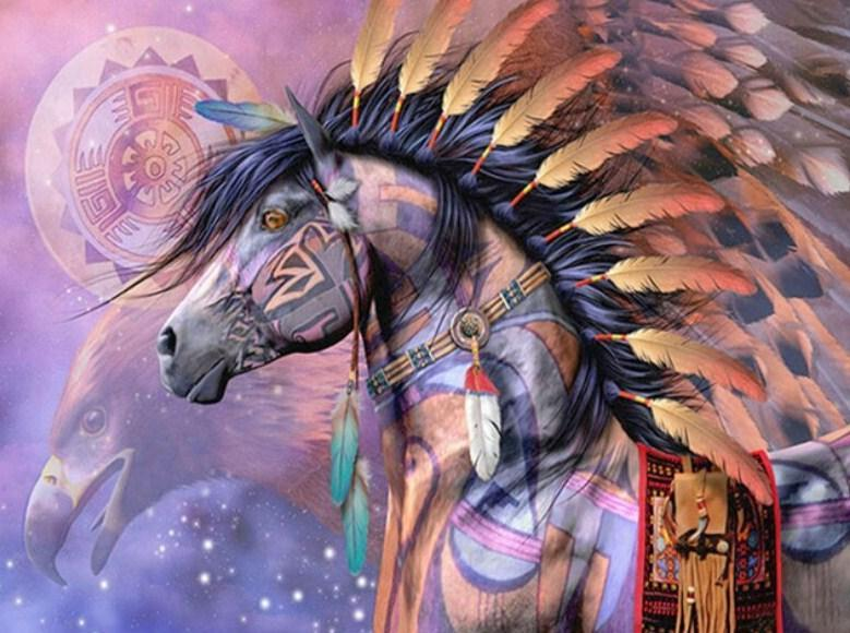 Native American War Horse - diamond-painting-bliss.myshopify.com