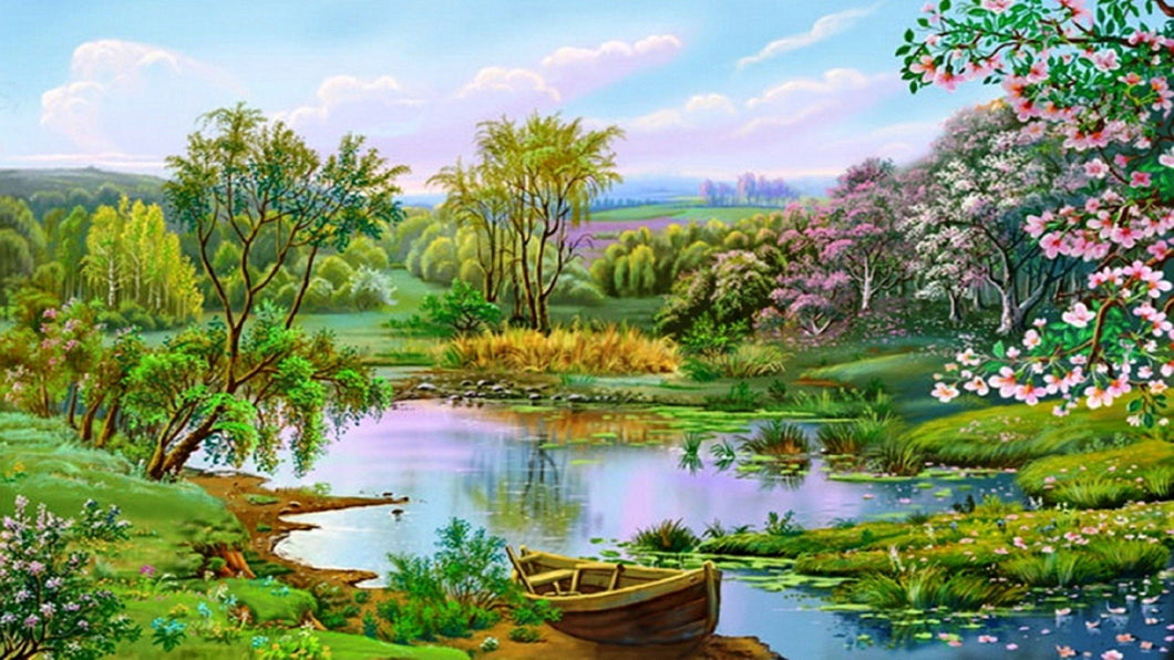 Natural View Scenery Diamond Painting - diamond-painting-bliss.myshopify.com