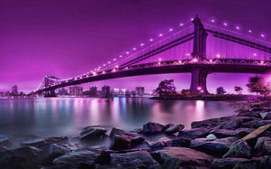 New York City Manhattan Bridge - diamond-painting-bliss.myshopify.com