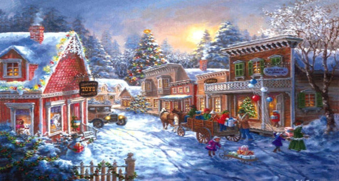Old Fashioned Christmas Town - diamond-painting-bliss.myshopify.com