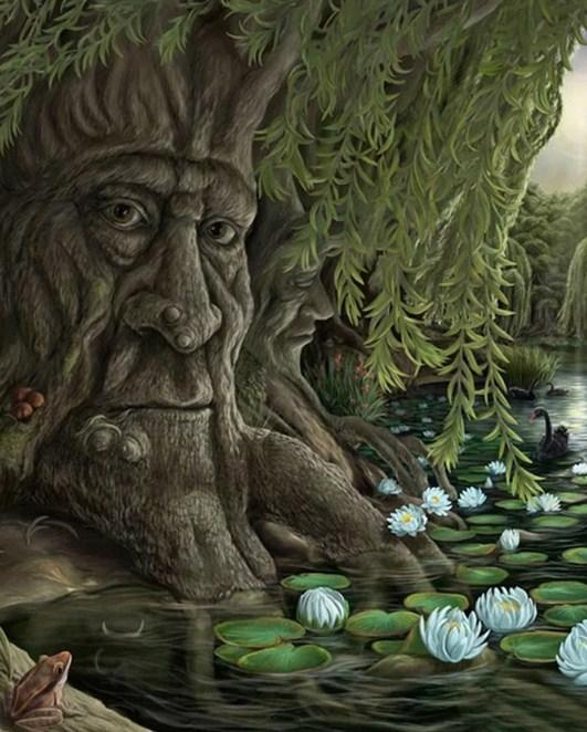 Old Man Willow - Fantasy Tree - diamond-painting-bliss.myshopify.com