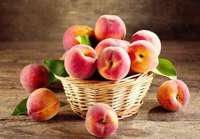 Peach Basket - Diamond Painting Kit - diamond-painting-bliss.myshopify.com